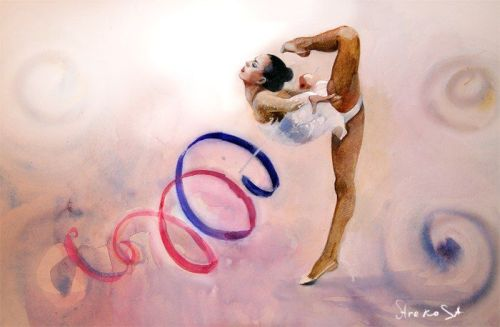 Как рисовать гимнастики